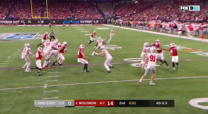 Watch Ohio State Convert a Perfect Fake Punt Thanks to a Beautiful Pass From Punter Drue Chrisman