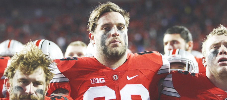 Taylor Decker after the 2015 loss to Michigan State