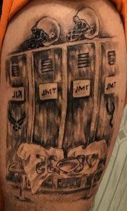 Tony Leroux's tattoo