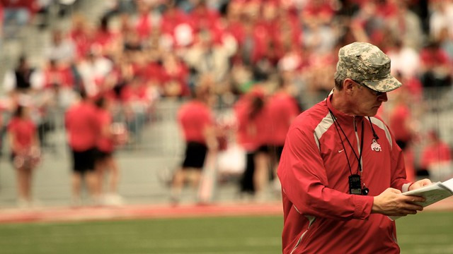 tress' last game coaching in ohio stadium, april 2011