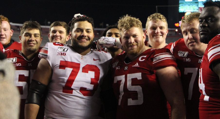 Jonah Jackson with Rutgers teammates