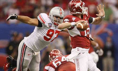 Ohio State's defeat of Arkansas marked the day Ohio State toppled the mighty SEC.