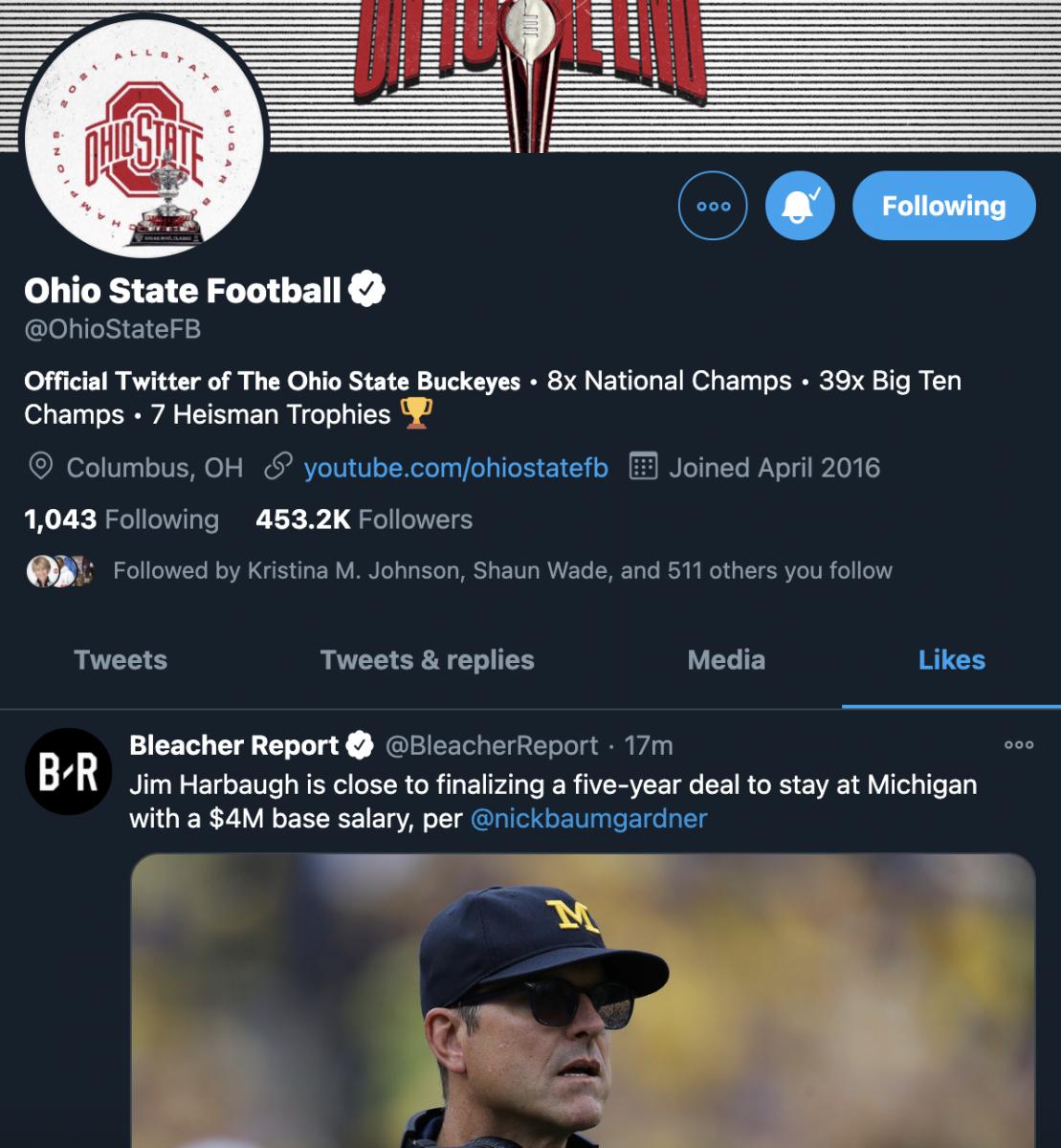 "Ohio State ""Likes"" the news."