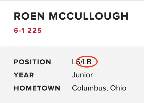He's a real-life linebacker.