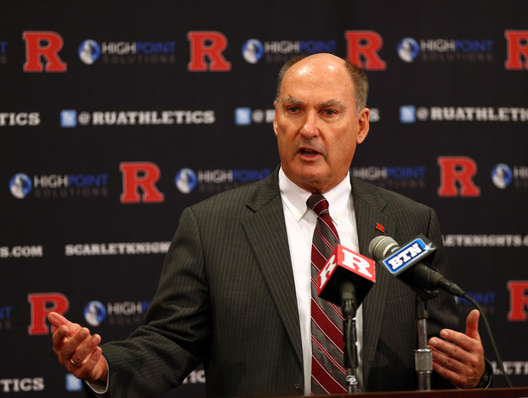 Big Ten commissioner Jim Delaney welcomes Rutgers to the league.