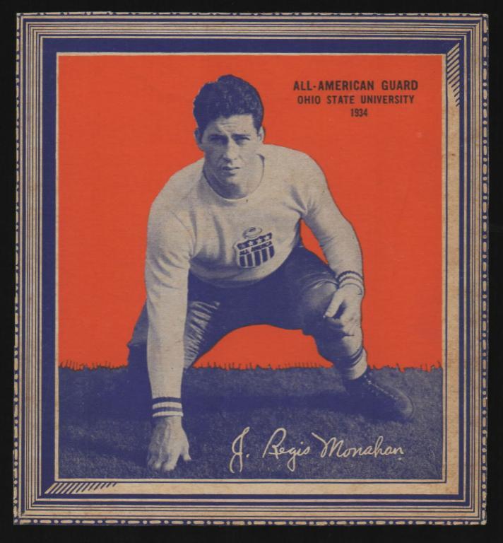 John Regis Monahan, 1934 Wheaties card