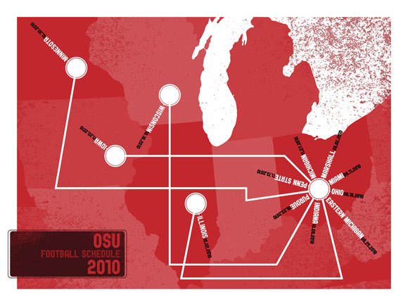 2010 Ohio State Football Schedule Map Wallpaper