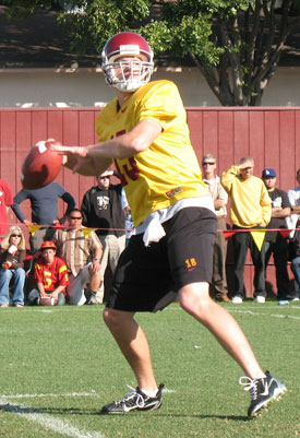 Aaron Corp is USC's starter headed into their spring scrimmage