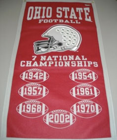 Ohio State National Championships Banner