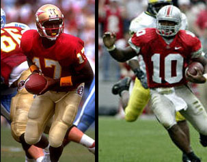 Charlie Ward and Troy Smith