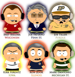 Big Ten Coaches as South Park Characters