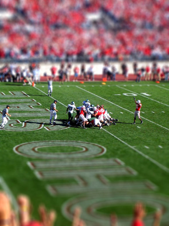 Goal line tilt-shift at Ohio Stadium