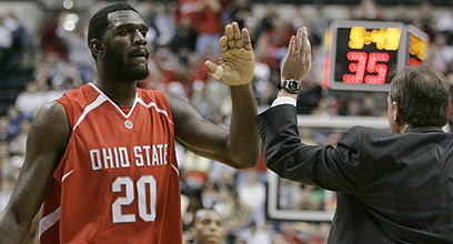 Greg Oden and Thad Matta
