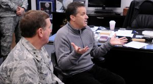 """It really is like taking candy from a baby,"" - John Calipari to Kentucky National Guardsmen"