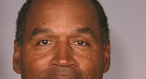 O.J. Simpson's mugshot. Well, part of it.
