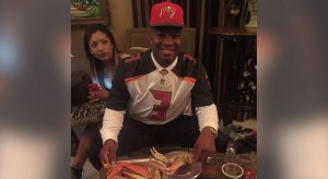 Jameis Winston at the Draft Party