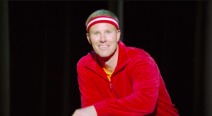 Frank Hoiberg in a charity commercial.