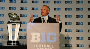 The closest Tim Beckman ever came to the Big Ten trophy.