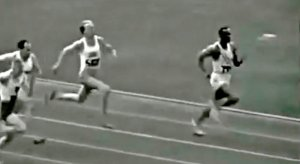 Jesse Owens in the 1936 100m Olympic Final
