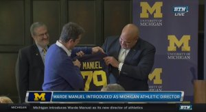 """Warde Manuel says Gene Smith and him are """"all good"""" after Jim Harbaugh's Twitter shit fit."""