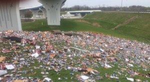 Beer truck spills 10,000 beers outside dayton