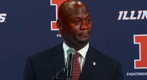 Crying Jordan Lovie Smith