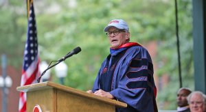 Tom Brokaw took a slam at Alabama at Ole Miss' graduation ceremony Saturday.
