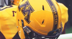 Minnesota is designing brick stickers for its helmets.