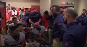 Dino Babers delivers a sermon.