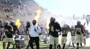 Darrell Hazell leads the Boilermakers.