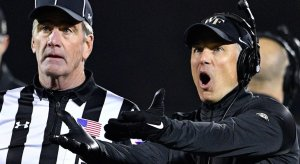 Some Wake Forest coach yelling at the refs.