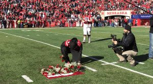 Tommy Armstrong pays tribute to Sam Foltz.