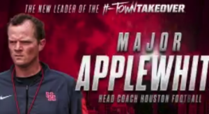 Houston promotes Major Applewhite to head coach.