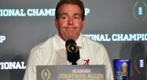 Alabama coach Nick Sabana banned.