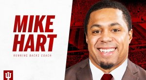 Mike Hart Indiana running backs coach.