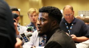 Jourdan Lewis at Big Ten media days.