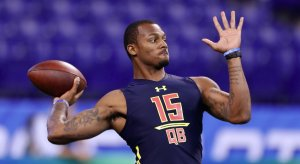 Deshaun Watson at the NFL combine.