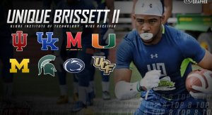 "Unique Brissett II's college football ""recruitment."""