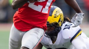 Devin Bush is leaving to the NFL without a win against Ohio State.