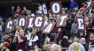 Colgate fans at the NCAA Tournament in Columbus