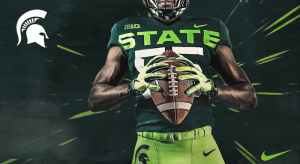 Michigan State's new alternate uniforms.