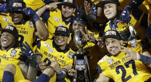 Kent State celebrates the first bowl win in program history Friday.