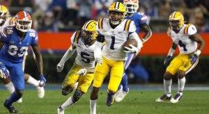 LSU upset Florida, 37-34, on Saturday night in the Swamp.