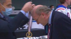 Team USA assistant coach Steve Miller gets his gold medal