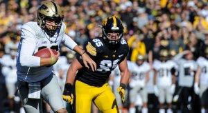 Purdue quarterback Aidan O'Connell vs. Iowa