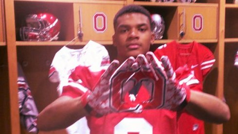 Damon Webb will forming Os and not Ms with his gloves in college.