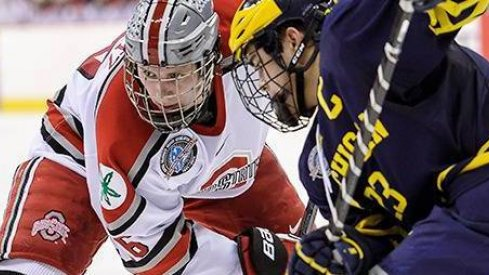 If intense eyeballs count for anything Tanner Fritz is winning this faceoff
