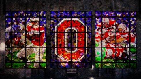 Ohio Stadium rotunda stained glass