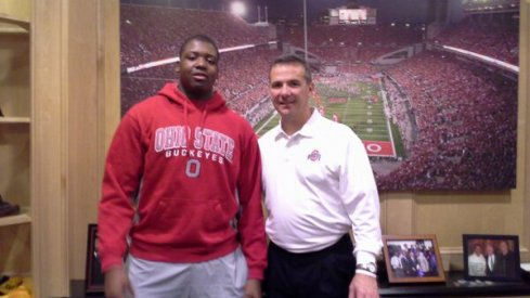Jamarco Jones with Urban Meyer on an unofficial visit