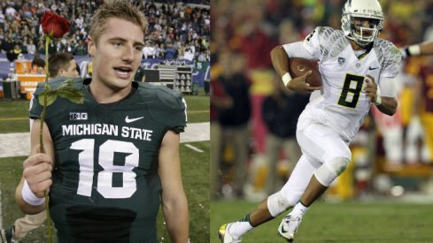 Connor Cook versus Marcus Mariota: the battle of alliterative quarterbacks.